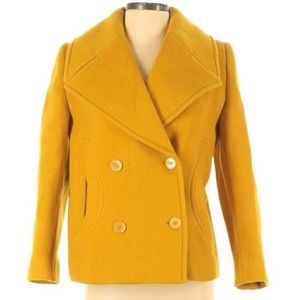 Carven Authentic Wool Blend Peacoat  US4 or FR36